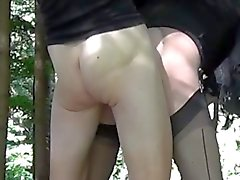 A hot fuck in the woods