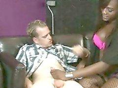 Enhanced tits ebony shemale hardcore sex with nasty dude