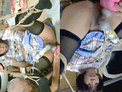 Jyosoukofujiko and Tied hobbyist Apron tie play(Rev)