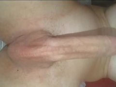 Tgirl with extra long cock destroying guys asses