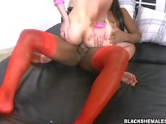 Luana Weickeirt Ebony Shemale Big Cock in Ebony Dick in Ivory Ass
