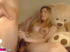 Blonde shemale anal fucked lucky guy webcam