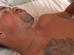 Guy gets pounded by hot shemale