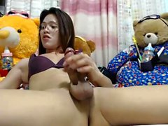 Lonely tranny chick webcam solo