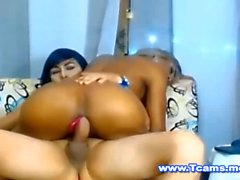 Big Ass Asian Tgirl Rides on her Tranny GF