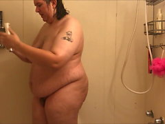 fat trans woman in shower