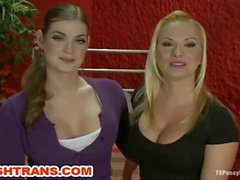 TS Tiffany tied up and dominated by Katja Kassin