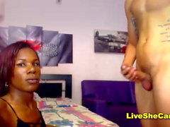 Big cock black shemale and guy anal webcam