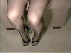 nylons and pantyhose shiny