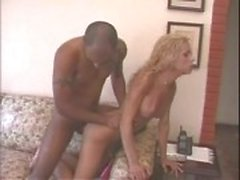 Curly blonde tranny gets banged
