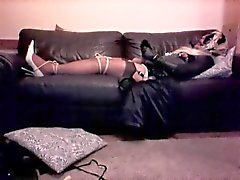 Masked Crossdresser - part 4 - cuffed and tied