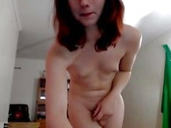 Cute slim skinny TS Tranny small tits nipples little cock