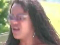 Shemale x Female Poolside Orgy