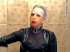 Sissy Faggot Smokes For His Master