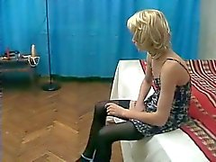 Young femboy jerking off