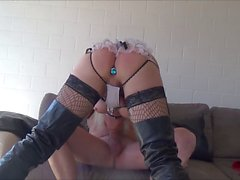 sissy in chastity swallow cum