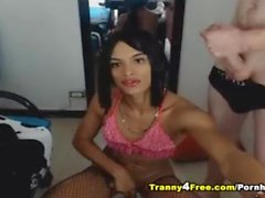 Two Asian Tranny Babe Love Show On Webcam