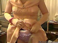 Frilly Panties Filled With Cum shemale porn shemales tranny porn trannies ladyboy ladyboys ts tgirl