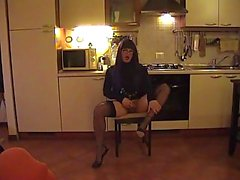 Fetish solo from a skilful crossdresser