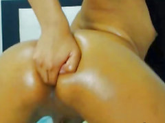 Oiled Up Shemale Anal Fingering Enjoyment