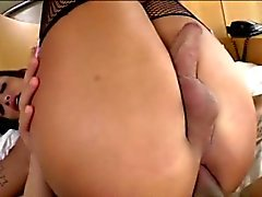 Busty shemale Julie Berdu anal nailed with thick hard cock