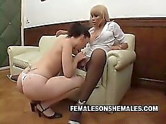 Shemale Boss Sheina Fucks Secretary