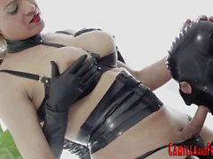 Bdsm tgirl fucks for cum