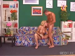 Blonde Tranny anal fucked