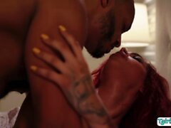 Horny TS Rubi analed by big black cock