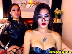 Two Shemale hotties mega show