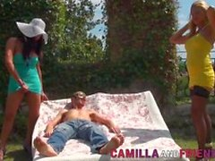 Kinky Camilla Jolie and Kora in Shemale Porno