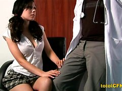Asian Tranny in Lingerie Given Head