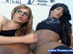 Ebony Crossdresser Face Fucking Nerdy Tranny