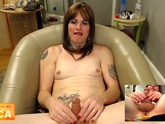 Amateur solo tranny plays alone