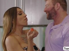 HotTBabe Jessy Dubais didnt expect to get fuck in the kitchen