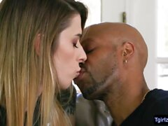 Intense interracial anal sex with ts Casey Kisses