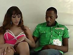 Tgirl interracial facial