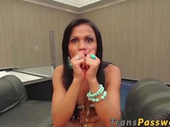 Big ass Latin shemale Bruna Butterfly gets pounded hard