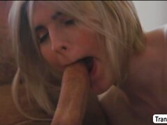 Horny Stepdad didnt expect to fuck Transbabe Ella Hollywoods ass