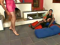 Tranny drills her bf crossdresser