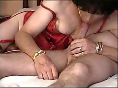 Crossdresser deepthroats married boyfriend
