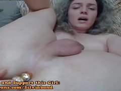 Sexy Cute Shemale Plays With Butt Plug
