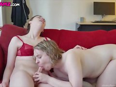 Zoey and Ryan femboy couple fucking anal