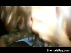 Amateur Shemale Sucks My Cock In The Car
