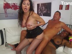 'TransBella - Jackeline Boing Boing Hot Brazilian Tranny Kinky Fucks Tight Pussy And Gets Anally Ravaged By Hard Cock'