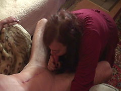 Blowjob from a whore Roza with sperm in her mouth