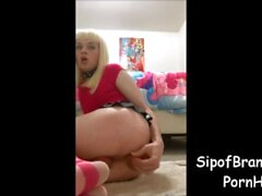 Blonde Sissy Double Penetration