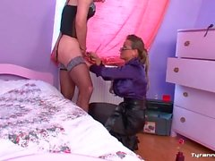 Mistress picks out lingerie for sissy guy