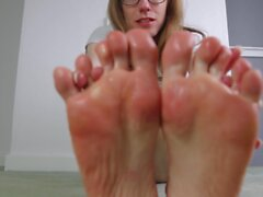 Foot Licking Worship as I Cum Over My Sticky Toes