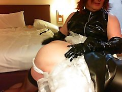 Mistress Ruth Spanks Her Latex Maid